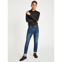 Jack Wills Hinton Skinny Ls Shirt, Black, Size S, Men