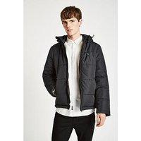 Jack Wills Breckford Down Jacket, Black, Size Xl, Men