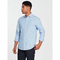V by Very Long Sleeved Cut Away Collar Shirt(oxford), Blue Mix, Size M, Men