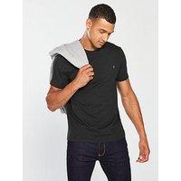 Farah Denny Slim Fit T Shirt, Black Marl, Size Xl, Men
