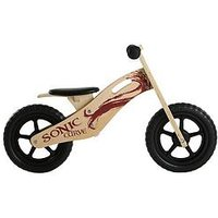Sonic Sonic Curve Unisex Wooden Balance Bike - 10-Inch
