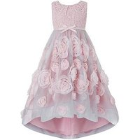 Monsoon Cascadia Rose Dress, Pink, Size 10 Years, Women