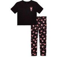 V by Very Girls Alien Pyjamas, Black, Size 11-12 Years, Women