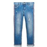 V by Very Girls Red Stripe Jeans, Blue, Size 7 Years, Women