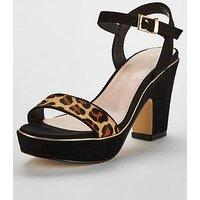 Carvela Skye Demi Wedge Sandal - Black, Tan, Size 6, Women
