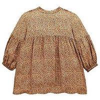 Mini V by Very Girls Leopard Print Dress, Multi, Size 5-6 Years, Women