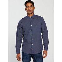Tommy Hilfiger Dot Print Button-Down Shirt - Navy, Blue, Size S, Men