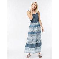 Monsoon Imelda Maxi Dress - Blue Printed