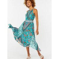 Monsoon Mariana Hanky Hem Dress - Print, Multi, Size S, Women