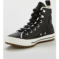 Converse Chuck Taylor All Star Hiker Boot - Hi, Black/White, Size 4, Women