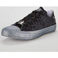 Converse Chuck Taylor Miley Cyrus Velvet Glitter All Star, Black/Glitter, Size 4.5, Women