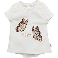 Baker by Ted Baker Toddler Girls Rose Graphic T Shirt, White, Size Age: 3-4 Years, Women