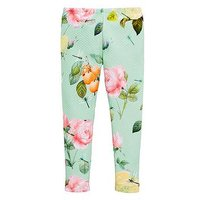 Baker by Ted Baker Toddler Rose Placement Text Legging, Green, Size Age: 18-24 Months