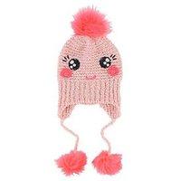 Billieblush Girls Knitted Sequin Pom Pom Hat, Pink, Size 6-12 Years
