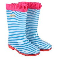 Billieblush Girls Stripe & Frill Welly, Blue, Size 13 Younger