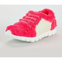 Billieblush Girls Fur Trainer, Pink, Size 4 Older
