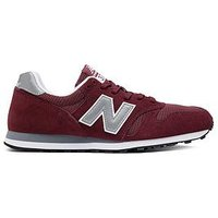 New Balance 373, Burgundy/Grey, Size 8, Men