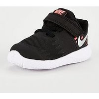 Nike Star Runner V Infant Trainers - Black/Pink, Black/Silver, Size 6