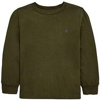 Ralph Lauren Boys Classic Long Sleeve T-shirt, Khaki, Size 18-20 Years=Xl