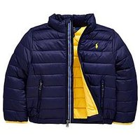 Ralph Lauren Boys Light Padded Packaway Jacket - French Navy, French Navy, Size Age: 6 Years