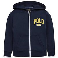 Ralph Lauren Boys Tech Zip Through Hooded Sweat, Spring Navy, Size 8 Years=S