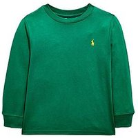 Ralph Lauren Boys Classic Long Sleeve T-shirt - Green, Green, Size 10-12 Years=M