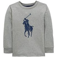 Ralph Lauren Boys Big Pony Long Sleeve T-Shirt - Andover Heather, Andover Heather, Size 4 Years