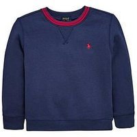 Ralph Lauren Boys Crew Neck Sweat, Cruise Navy, Size 14-16 Years=L