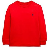 Ralph Lauren Boys Classic Long Sleeve T-shirt, Red, Size 7 Years