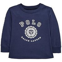 Ralph Lauren Baby Boys Polo Graphic T-shirt, Navy, Size 6 Months