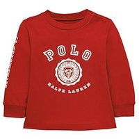 Ralph Lauren Baby Boys Polo Graphic T-shirt - Red, Red, Size 9 Months