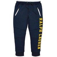 Ralph Lauren Boys Tech Logo Jogging Bottoms, Spring Navy, Size 4 Years
