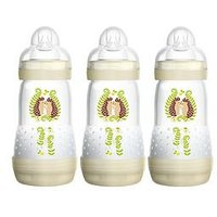 MAM Anti Colic 260 ml Baby Bottles 3 Pack – Ivory, One Colour