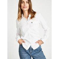 Jack Wills Homefore Classic Fit Shirt - White, White, Size 16, Women