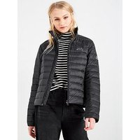 Jack Wills Cartmell Lightweight Down Padded Jacket - Black, Black, Size 6, Women