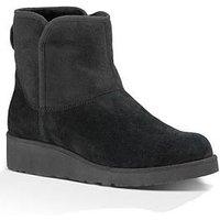 UGG Kristin Suede Ankle Boot - Black, Black, Size 5, Women