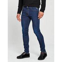 Replay Replay Jondrill Hyperflex Skinny Stretch Jeans, Dark Wash, Size 34, Length Long, Men