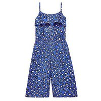 V by Very Girls Animal Print Jumpsuit, Multi, Size 12 Years, Women