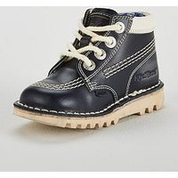 Kickers X Joules Boys Kick Hi Boot, Blue, Size 2 Older