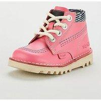 Kickers X Joules Girls Kick Hi Boot, Pink, Size 2 Older