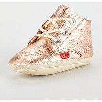Kickers 1st Kicks Bootie, Rose Gold, Size 2 Younger