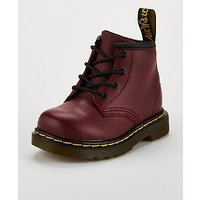 Dr Martens Infant 8 Lace Up Boots - Cherry Red, Cherry Red, Size 4 Younger
