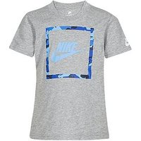 Nike Younger Boys Futura Camo Knit Tee, Grey, Size 4-5 Years