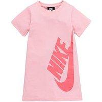 Nike Younger Girls Nsw Tshirt Dress, Pink, Size 4-5 Years, Women