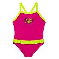 Speedo Girls Frill Swimsuit, Pink/Green, Size 6-9 Months, Women