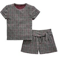 V by Very Girls Check Co-Ord Outfit, Multi, Size 8 Years, Women