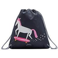 Joules Glow In The Dark Unicorn Drawstring Bag, One Colour