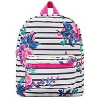 Joules Girls Stripe Rubber Rucksack, One Colour