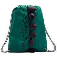 Joules Boys Dinosaur Drawstring Bag - Green, One Colour