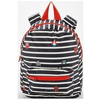 Joules Boys Stripe Rubber Rucksack - French Navy, One Colour
